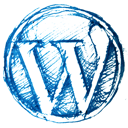 WordPress sketch icon