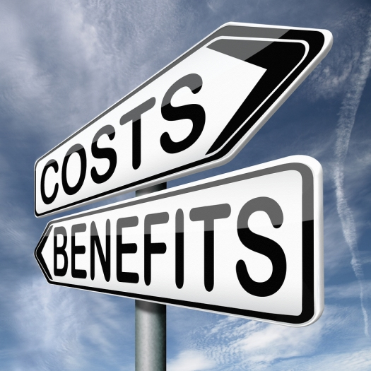 costs and benefits analysis business management investment value